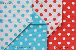 Pois turquoise rouge