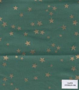 sapin étoiles or